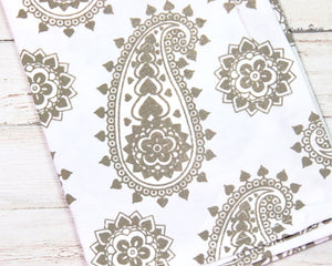 Brown paisley kitchen dish towels, Neutral kitchen decor, JaBella Designs, Murfreesboro
