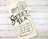 Southern style 'Sweet Tea' recipe towel