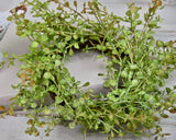 Faux peppergrass greenery ring farmhouse home decor, JaBella Designs