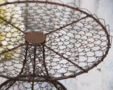 Primitive style twisted metal wire cake stand