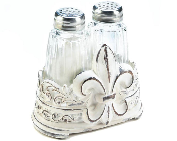Shabby white French country shaker set