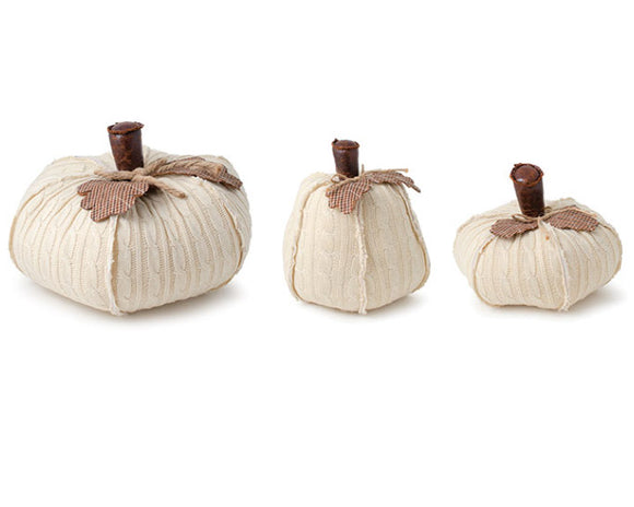 Fabric pumpkins, Cream pumpkin set, Buffalo plaid, Brown, Fall decorations, Autumn pumpkins, Set of 3 farmhouse pumpkins, JaBella Designs, Home decor and accents