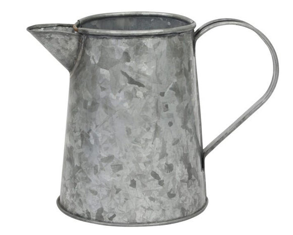 Galvanized metal pitcher, Farmhouse style sweet tea jug, Country kitchen supplies, Decorative rustic vase, Gray metal vase, Fixer Upper style, JaBella Designs
