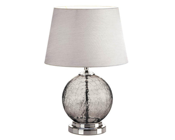 Gray table lamp, Aged black lamp, Silver lamp decor, Glass lamp, Coastal living, Modern farmhouse, Home decor, JaBella Designs