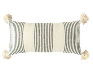 Gray Pillow, Striped Pillow, Neutral, Cream, Beige, Greige, Farmhouse Pillows, Coastal Living, Modern Farmhouse, JaBella Designs, Home Decor, Online Decor, Creative Co-op
