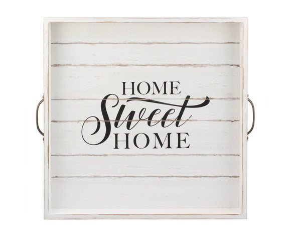 Home Sweet Home, Home Sweet Home serving tray, Black and white tray, Farmhouse trays, Fixer Upper style, Stonebriar Collection, JaBella Designs, Home decor store, Murfreesboro