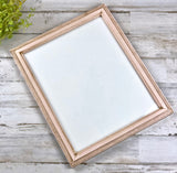 Blush pink vintage style 8x10 photo frame