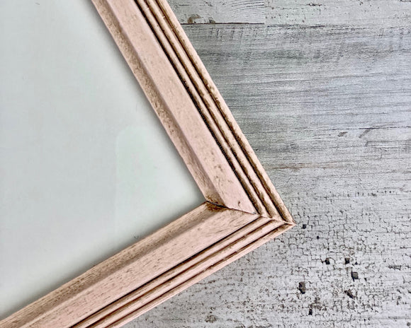 Blush pink picture frame, Wooden 8x10 photo frames, Shabby farmhouse chic wall decor, Nursery decorations, JaBella Designs, Etsy, Murfreesboro