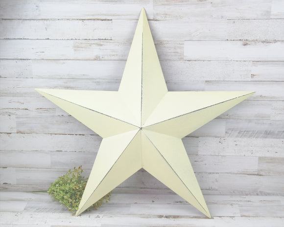 Ivory Star, Metal Star, Barn Star, Country Decor, Primitive, Rustic, Farmhouse, Wall Decor, Holiday Decor, JaBella Designs, Fixer Upper