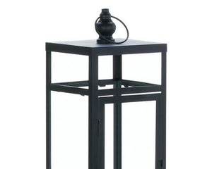 Tall modern farmhouse black candle lantern for the home