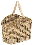 Natural woven rattan magazine basket