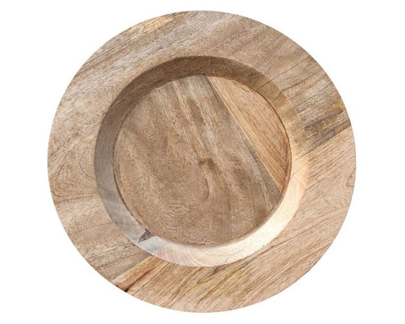 Mango Wood, Plate Charger, Charger, Wood, Neutral, Tan, Coastal Living, Country, Farmhouse, Rustic, American Farmhouse, Fixer Upper Style, JaBella Designs, Kitchen, Dining, Entertaining