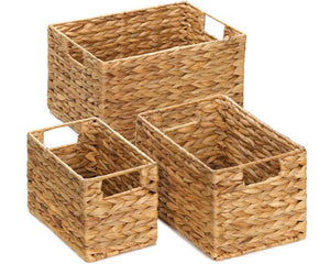 Water hyacinth storage baskets, Woven wicker storage baskets, Decorative storage, Containers, Farmhouse home decor, Home office decor, Home office organization, Home accents, JaBella Designs