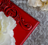 Red 5x7 embellished wood picture frame