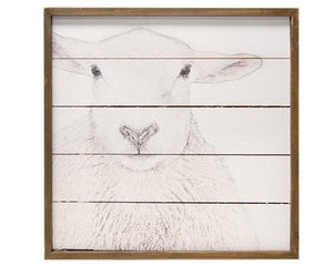 White Sheep, Sheep Art, Shiplap, Neutral, White, Brown, Wood Frame, Artwork, Nursery Decor, Farmhouse Decor, Rustic Wall Plaque, Fixer Upper Style, JaBella Designs, Home Decor, Wall art