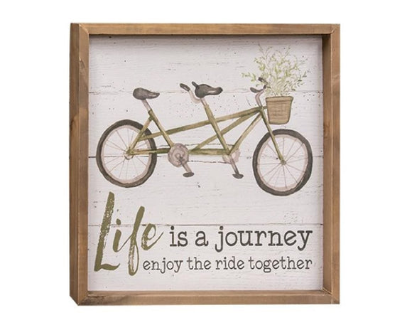 Spring bicycle inspirational framed sign