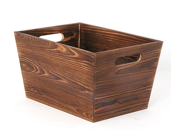 Storage Bin, Wood, Brown, Dark brown wooden box, Storage solutions, Home accessories, Farmhouse storage, Rustic playroom, Toy bin, Toy storage, Home organization, JaBella Designs