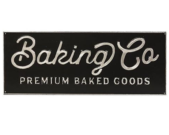 Rustic farmhouse black baking kitchen sign wall plaque for the home