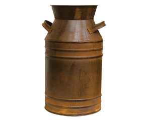 Milk Can, Brown, Rustic, Farmhouse, Decorative, Container, Vase, Planter, Pot, JaBella Designs, The Hearthside Collection