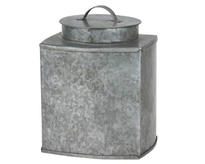 Galvanized Metal, Tin, Container, Jar, Canister, Food Storage, Farmhouse, Rustic, Modern, Fixer Upper, JaBella Designs, Stonebriar Collection