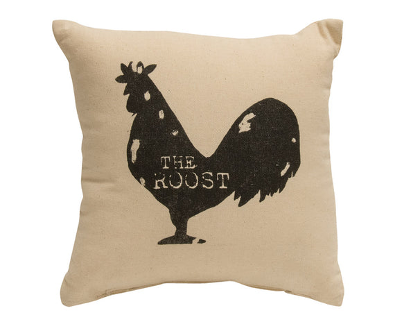 Pillow, The Roost, Rooster, Country, Farmhouse, Rustic, Home Decor, Accent Pillow, JaBella Designs, The Hearthside Collection
