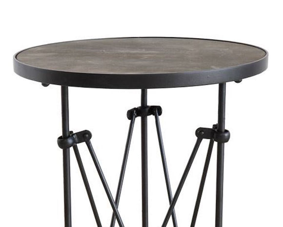 Accent Table, Table, Round, Industrial, Rustic, Wood, Metal, Farmhouse, Fixer Upper Style, JaBella Designs, Home Decor, Furniture