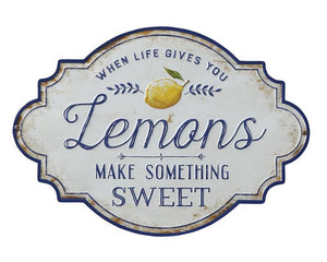Lemons, Country, Classic, Yellow, Blue, White, Distressed, Farmhouse, JaBella Designs, Home Decor, Kitchen Decor