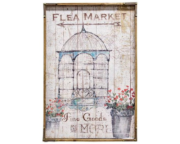 Flea market artwork, Bird cage, Flowers, Shabby chic, Spring home decor, Spring artwork, Wall decor, Farmhouse chic, JaBella Designs