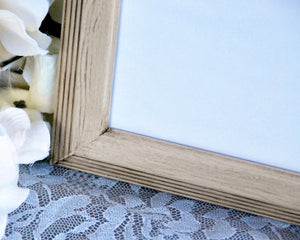 Tan 5x7 wooden wall gallery photo frame