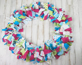 Hot pink polka dot custom rag garland