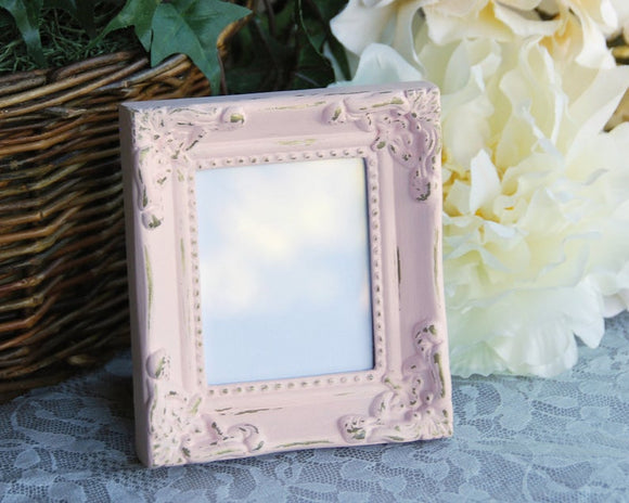 Small pink & gold ornate photo frame