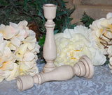 Neutral coastal farmhouse tan candlesticks