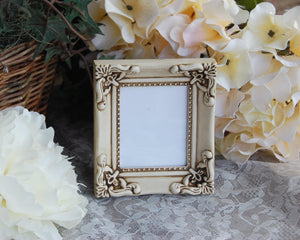 JaBella Designs, Farmhouse chic picture frames, Ornate photo frames, Antique white small frames