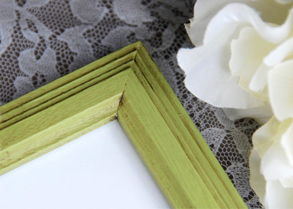 Apple green photo frames, Green 8x10 wood picture frame, Country style wall gallery frames, Kids wall decor, Rustic home decor, JaBella Designs