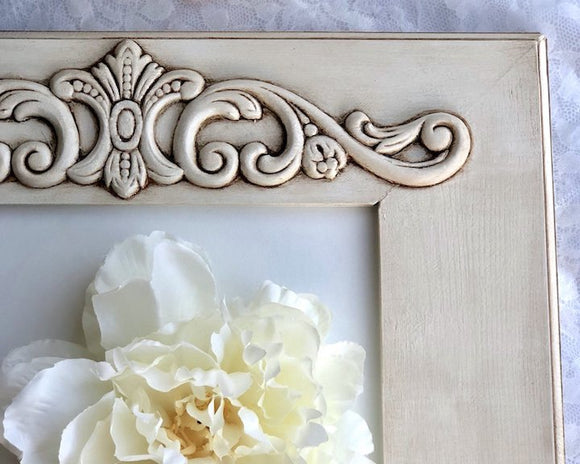 Antique White, White Picture Frame, White Photo Frames, Ornate, Embellished, Painted Frames, Wall Frames, Wood Frames, Etsy, Shabby Chic, Farmhouse, Cottage Style, JaBella Designs, Made in the USA