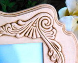 Blush pink ornate scallop wall gallery baby girls nursery picture frame