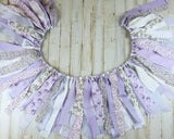Handmade lavender purple fabric nursery banner for baby girls, jabella designs