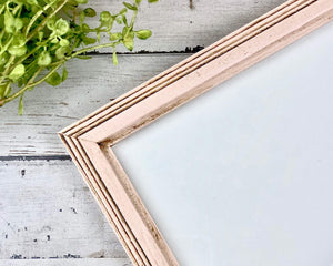 Blush pink frames, Pink wood picture frames, Vintage style photo frames, Wall gallery home decor, Shabby chic decorations, JaBella Designs, Made in the USA