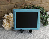Kids playroom aqua blue framed chalkboard wall decor for the home