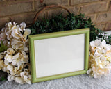 Apple green 8x10 vintage wood photo frame
