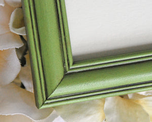 Green picture frame, Apple green tabletop photo frames, Nursery shelf decor, Tiered tray decor, Christmas decor, Holiday decorations, JaBella Designs, Murfreesboro