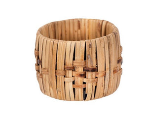 Woven natural cane casual napkin ring