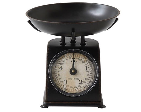 Metal, Scale, Aged Black, Black, Kitchen Scale, Farmhouse, Rustic, Country, Food Scale, JaBella Designs, Creative Co-op, Home Decor, Gifts