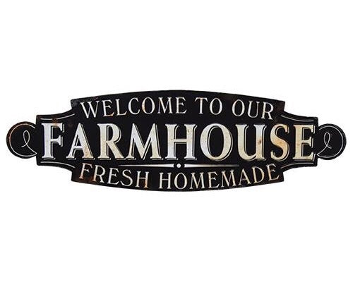 Large 'Farmhouse' black kitchen wall plaque