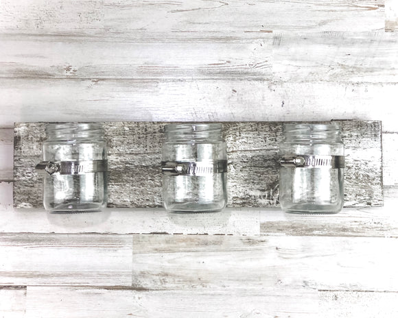 Rustic mason jar wooden wall hanging decor