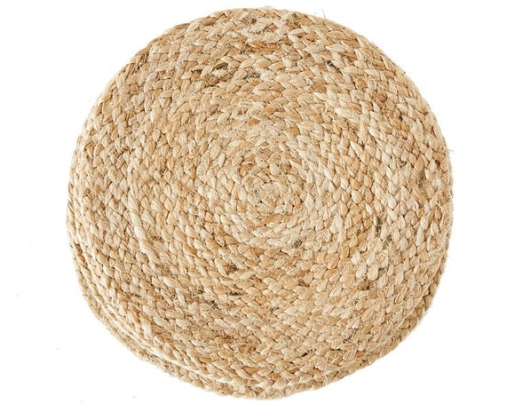 Natural woven jute round table placemat