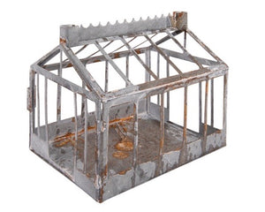 Decorative galvanized metal farmhouse
