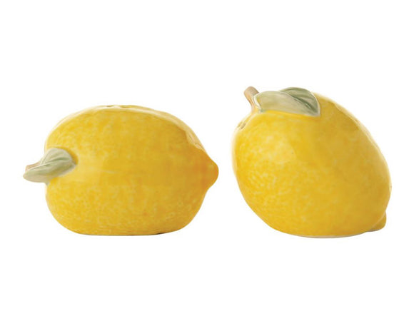 Yellow lemon salt & pepper shaker set