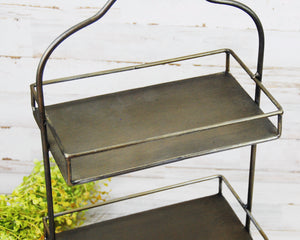 Tray Stand, Tiered Tray, Metal Serving Tray, Dark Brown, Bronze, Neutral, Farmhouse Kitchen, Traditional Home Decor, Dining, Entertaining, Trays, JaBella Designs, Fixer Upper