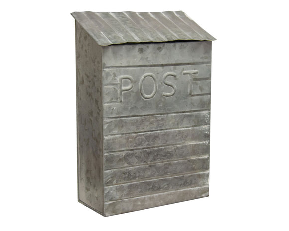 Post, Mailbox, Galvanized Metal, Gray, Silver, Coastal, Farmhouse, Home Decor, JaBella Designs, Fixer Upper Style